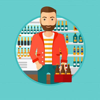 comprando presentaciones de cerveza