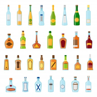 ilustración de diferentes tipos de tequila