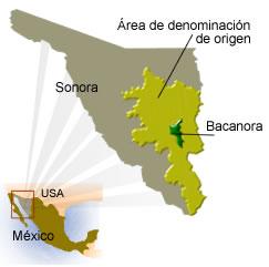 estado de sonora, municipio de bacanora y su denominación de origen