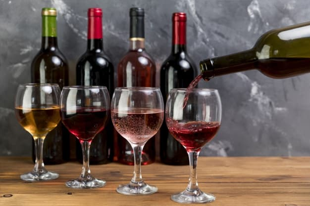 sirviendo tipo de vino tinto