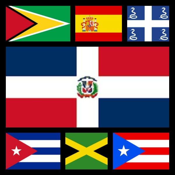 banderas de los países productores de ron