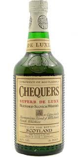 botella de whisky Chequers