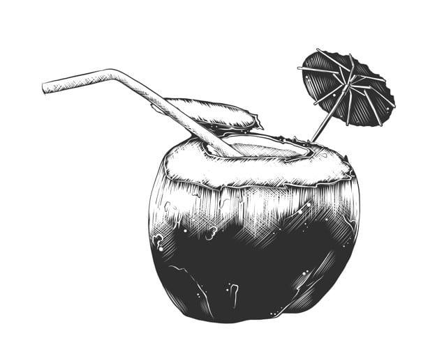 ginebra con coco