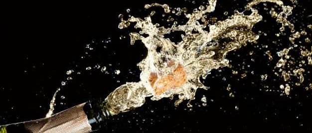 splash champagne