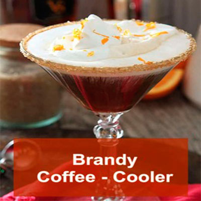 trago con brandy coffee cooler